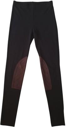 Lauren Ralph Lauren Anthracite Cotton Trousers for Women