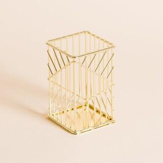 U Brands Vena Wire Pencil Cup Gold