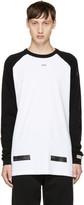 Off-White Black & White Brushed Diagonal Raglan T-Shirt