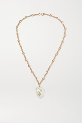 Pascale Monvoisin Charlie N2 9-karat Gold, Pearl And Diamond Necklace
