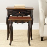 Swayze Solid Wood 4 Legs 1 Drawer Nesting Tables with Storage August Grove
