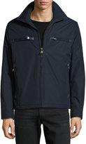 Andrew Marc Astoria Zip-Front Moto Jacket, Ink