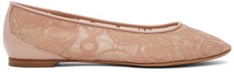 Chloé Pink Lauren Lace Ballerina Flats