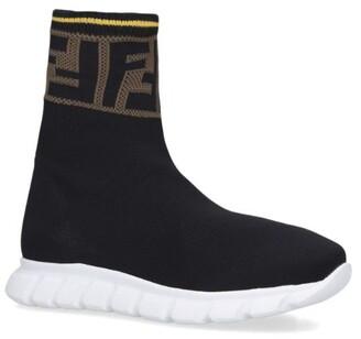 Fendi FF Pull-On Sneakers