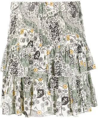 Etoile Isabel Marant Naomi floral-print ruffled skirt