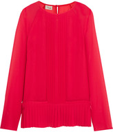 Temperley London Kiri Mae pleated chiffon blouse