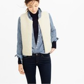J.Crew Collection reversible shearling vest