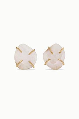 Melissa Joy Manning Net Sustain 14-karat Gold Agate Earrings