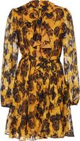 Saloni Tilly Ruffled Chiffon Mini Dress