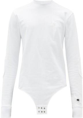 Rick Owens X Champion Star-embroidered Cotton-blend Bodysuit - White