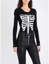Wildfox Couture X-Ray Vision cotton-jersey body
