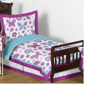 JoJo Designs Sweet Spring Garden 5 Piece Toddler Bedding Set