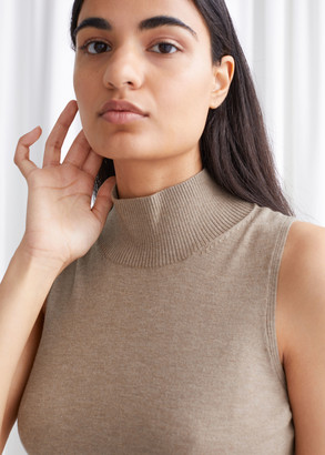 And other stories Knitted Sleeveless Turtleneck Top