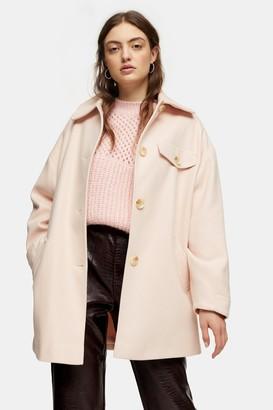 Topshop Pale Pink Shacket