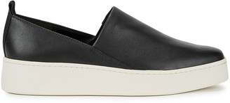 Vince Saxon black leather sneakers