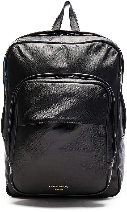 Common Projects Leather Backpack in Black | FWRD