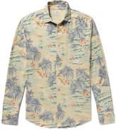 Faherty Ventura Slim-fit Printed Cotton-flannel Shirt - Blue