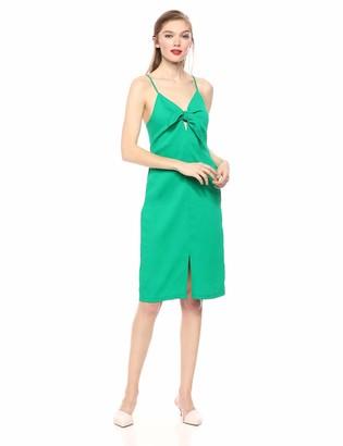 ASTR the Label Women's SYD Sleeveless TIE Front Ribbed MIDI Sheath Dress