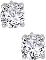 Lafonn Platinum Plated Sterling Silver 6.5mm Simulated Diamonds Round Stud Earrings