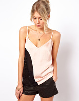 Asos Cami in Color Block and Sequin Panels
