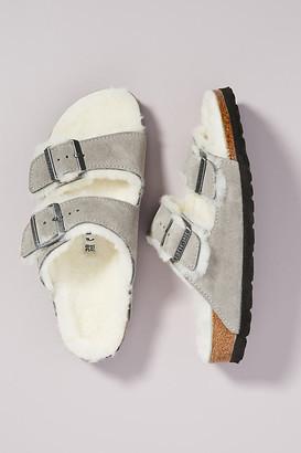 Birkenstock Arizona Shearling-Lined Sandals By in Grey Size 37