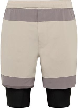 Lululemon Robert Geller Take the Moment Colour-Block Swift Shorts - Men - Gray
