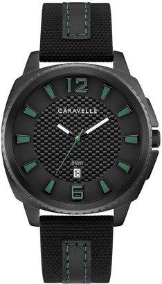 Caravelle by Bulova Men's Black Nylon Strap Watch