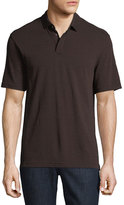 Zegna Sport Techmerino Wool Polo Shirt, Dark Red