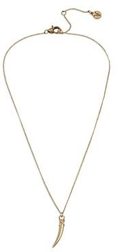 AllSaints Horn Pendant Necklace, 16-18