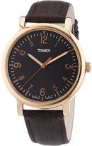 Timex Women's T2P213 Leather Analog Quartz Watch with Dial