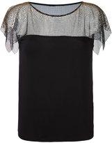Versace lace overlay blouse - women - Spandex/Elastane/Viscose - 40