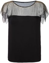 Versace lace overlay blouse