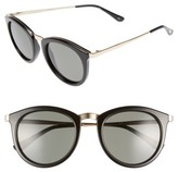 Le Specs Women's No Smirking 51Mm Polarized Sunglasses - Black/ Gold