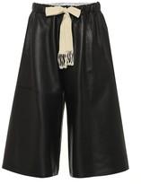 Loewe Wide-leg leather shorts