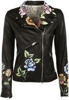 S.W.O.R.D. Floral Print Biker Jacket