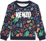 Kenzo Peace sign print cotton jumper 2-3 years