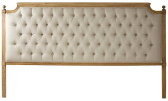 Zentique Louis Tufted Headboard, King Natural, King