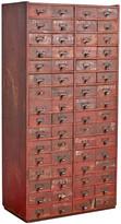 Rejuvenation Sixty-Four Drawer Hardware Cabinet w/ Hand-Written Labels