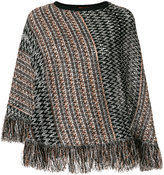 M Missoni fringe knit poncho