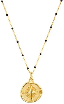 Argentovivo North Star Pendant Necklace in 18K Gold-Plated Sterling Silver, 16-18