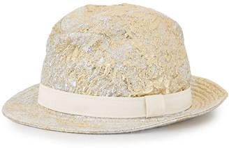 Dolce & Gabbana Metallic-Finish Fedora Hat