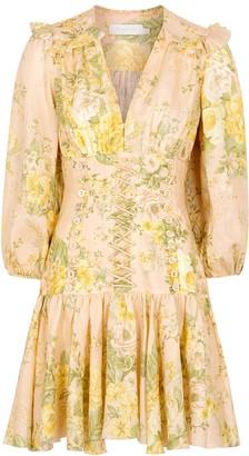 Zimmermann Amelie floral-print linen mini dress