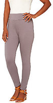 As Is LOGO by Lori Goldstein Pull-On Knit Twill Crop Pants