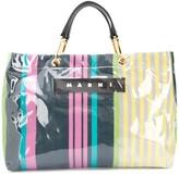 Marni large striped tote bag