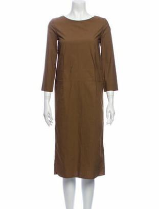 Marni Bateau Neckline Midi Length Dress w/ Tags Brown