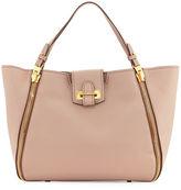 Tom Ford Sedgewick Medium Leather Zip-Trim Tote Bag, Blush