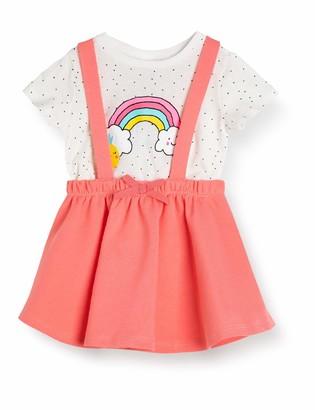Koton Baby Girls' Latzkleid mit T-Shirt Business Casual Skirt