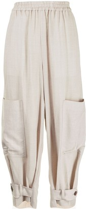 Y's Elasticated Waist Loose-Fit Trousers