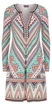 Hale Bob Embellished Geo Dress