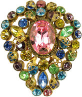 One Kings Lane Vintage Czech Jewel-Tone Crystal Clip Brooch